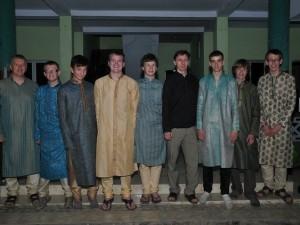 boys dressed up