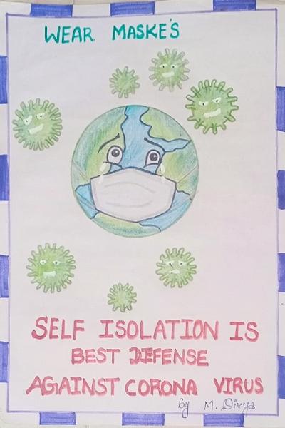 COVID-19 poster design in Children's Home